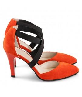 Pantofi Dama Piele Orange Haze D20 - orice culoare