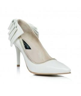 Pantofi Stiletto Funda Spate Ivory C3  - orice culoare
