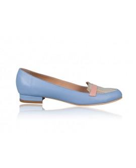 Balerini Piele Office Bleu N5 - orice culoare
