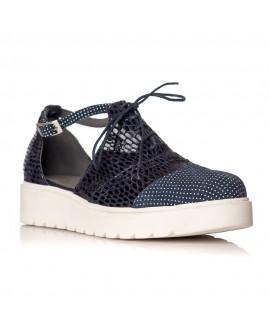 Pantofi piele Bleumarin Oxford Decupat V21 - orice culoare