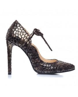 Pantofi piele stiletto Snake F11 - orice culoare