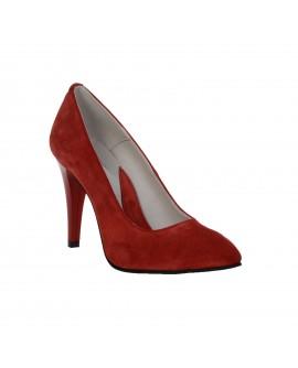 Pantofi Stiletto Rosu piele naturala Casual -orice culoare