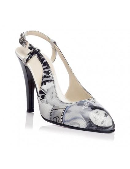 Pantofi Stiletto decupat piele Revista V5  - orice culoare