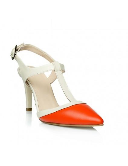 Sandale dama piele Venus Portocaliu C2 - orice culoare