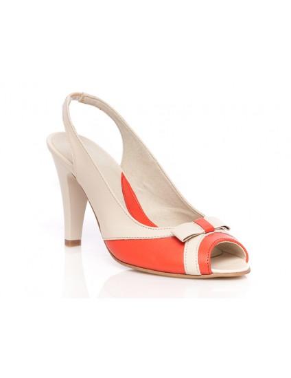 Pantofi piele P22 Crem - orice culoare