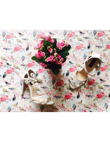 Sandale dama piele Diva ivoire F4 - pe stoc
