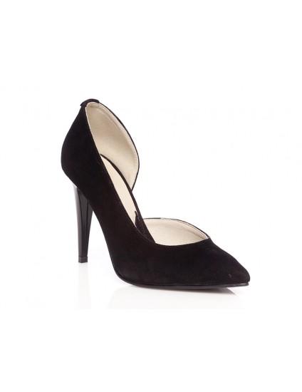 Pantofi piele intoarsa stiletto decupat P2 - orice culoare