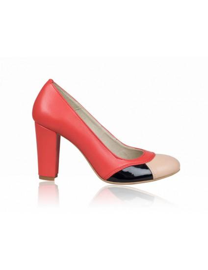 Pantofi dama piele office corai P8 - orice culoare