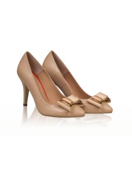 Pantofi piele stiletto cu funda N7 - orice  culoare