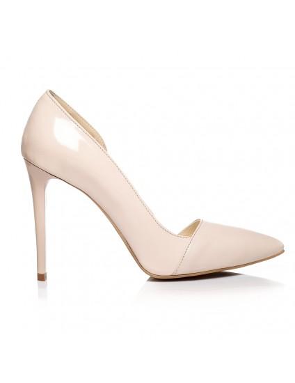 Pantofi piele Stiletto Duo decupat  Nude- orice culoare