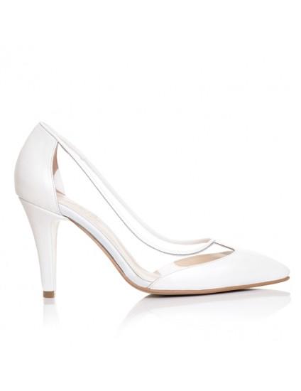 Pantofi Stiletto piele Transparent  F8 - orice culoare