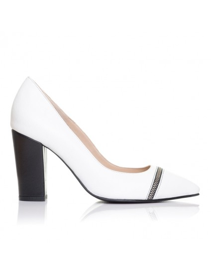 Pantofi Stiletto piele Toc Gros F9 - orice culoare