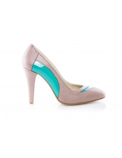 Pantofi Stiletto Duo piele naturala Casual  -orice culoare
