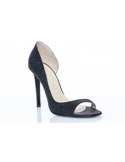 Pantofi Piele Lara Decupat Glitter - pe stoc