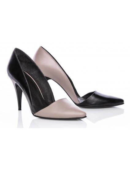 Pantofi Dama Stiletto M1 Piele Duo -  orice culoare