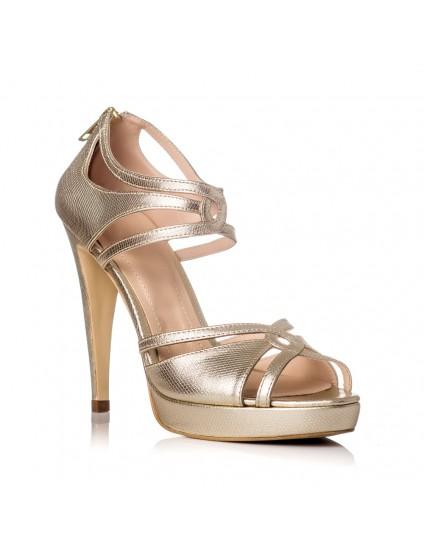 Sandale Dama Piele Auriu Margot F22 - pe stoc