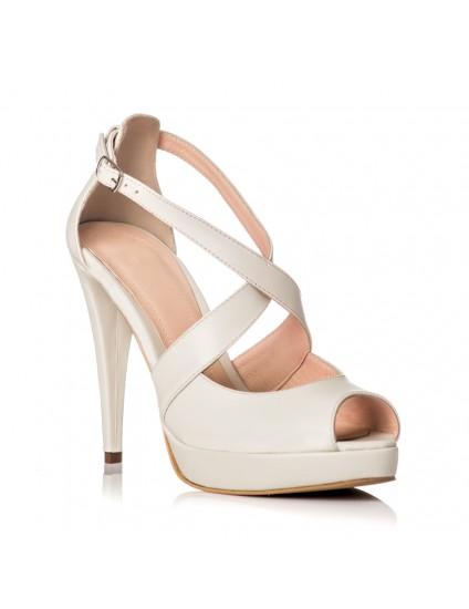 Sandale Dama Piele Alb Lora - orice culoare