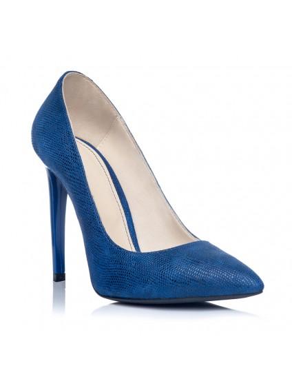 Pantofi Stiletto Piele Albastru Electric S4 - orice culoare