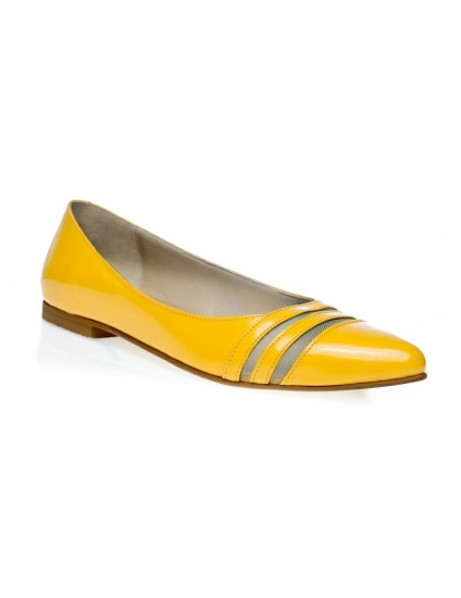 Balerini piele galben Lora C3 - orice culoare