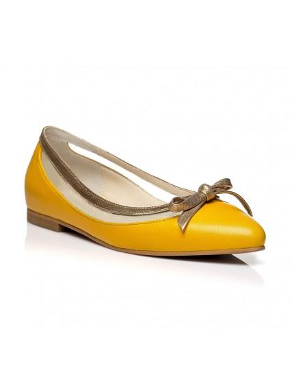 Balerini piele galben C2 - orice culoare