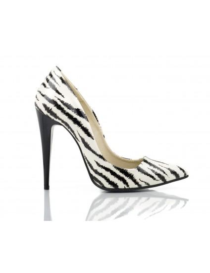 Pantofi Stiletto Very Chic piele Zebra
