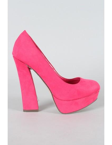 Pantofi Amber,roz aprins