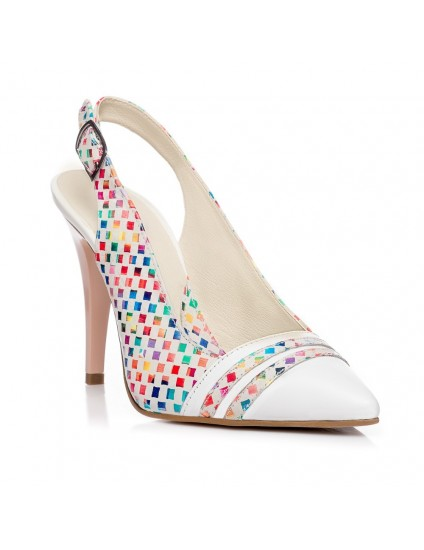 Pantofi Stiletto decupat Piele Color V3  - orice culoare