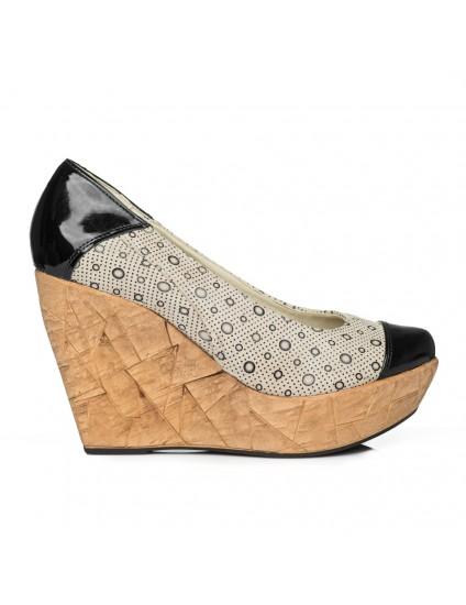 Pantofi piele cu platforma Eva Model V2 - orice culoare