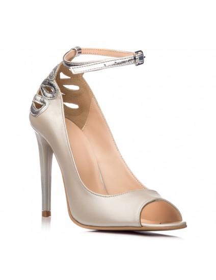 Pantofi Dama Piele Bej Sarah C31 - orice culoare
