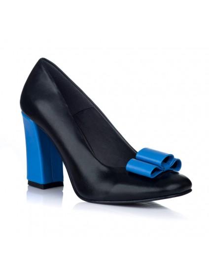 Pantofi Dama Piele Office Chic Albastru V34 - orice culoare