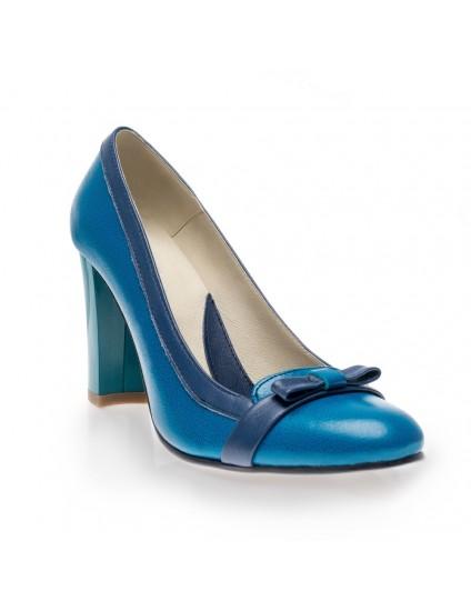 Pantofi dama piele office Albastru V18 - orice culoare