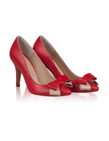 Pantofi Stiletto Piele Rosu Funda Chic N20 - orice culoare