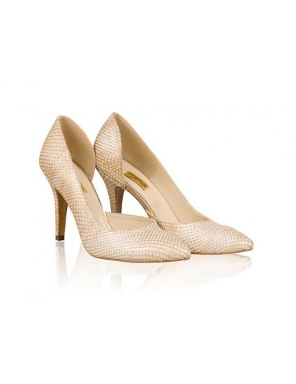 Pantofi Piele Stiletto Fancy Crem N31- orice culoare