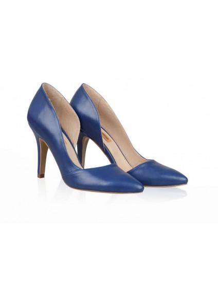 Pantofi Piele Stiletto Fancy Albastru N30 - orice culoare
