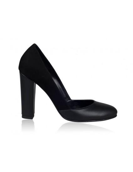 Pantofi dama piele Retro N1 Negru - orice culoare