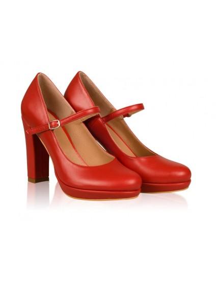 Pantofi Dama Piele cu Bareta N43 - orice culoare
