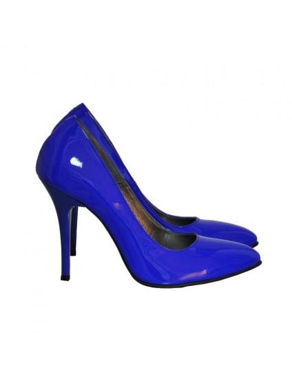 Pantofi Dama Piele Stiletto Albastru Electric D12 - orice culoare