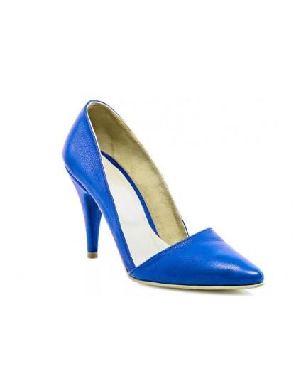 Pantofi Dama Stiletto M1 Piele Albastru - orice culoare