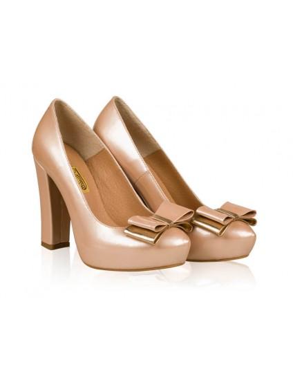 Pantofi mireasa N4 cu fundita - orice culoare