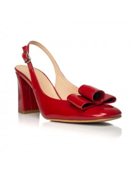 Pantofi Chic Madame decupat Lac Rosu- disponibili pe orice culoare