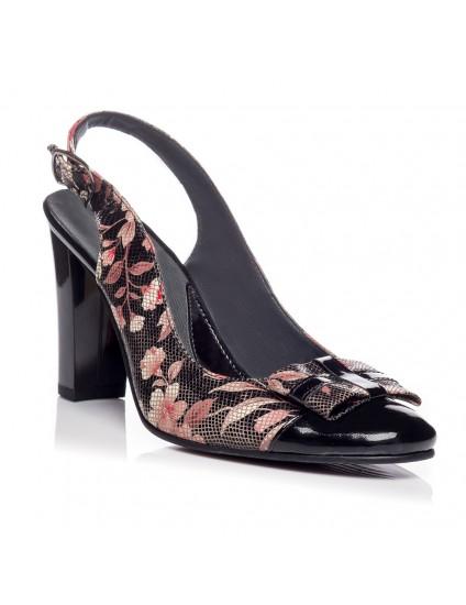 Pantofi office decupat piele Floral V16 - orice culoare