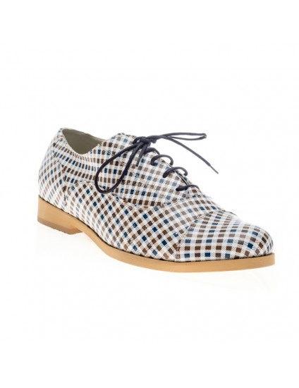 Pantofi Oxford Multicolor Alb V8 - Orice culoare