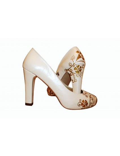 Pantofi pictati manual Tiffany's - orice culoare