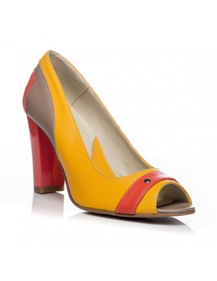 Pantofi office piele Combi V17 - orice culoare