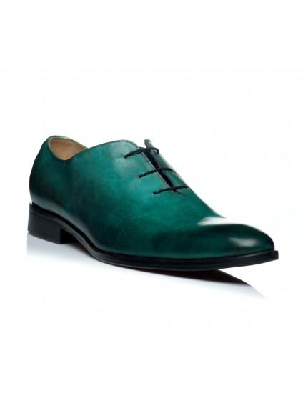 Pantofi piele turcoaz barbati C9