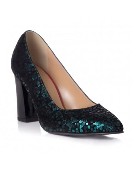 Pantofi Piele Imprimeu Verde Melly T7 - orice culoare