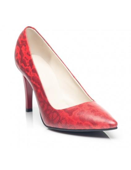 Pantofi Stiletto  Piele Rosu C8  - orice culoare