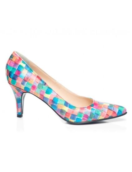 Pantofi Stiletto Multicolor Toc Mic I1- orice culoare I1