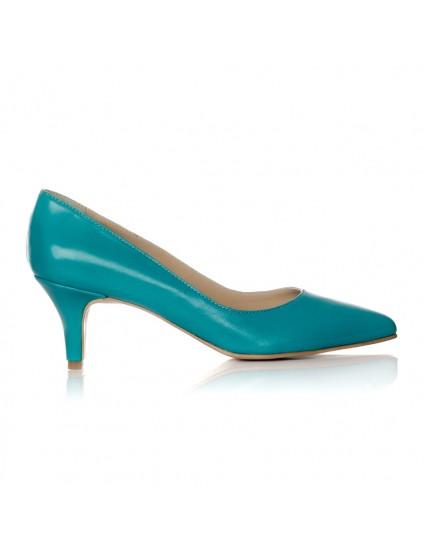 Pantofi Stiletto Turcoaz Toc Mic I1 - orice culoare
