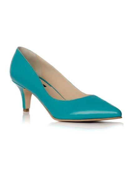 Pantofi Stiletto Turcoaz Toc Mic I1 - pe stoc